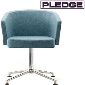 Pledge Zone Tub Chair With A 4 Star Base £413 - Reception Furniture