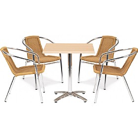 Casa Square Table and 4 Chairs Bundle Deal £239 - Bistro Furniture