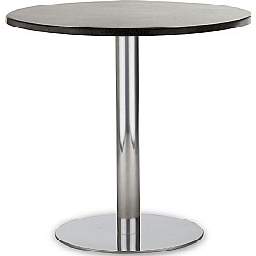 Lara Inox Veneer Bistro Table £243 - Bistro Furniture