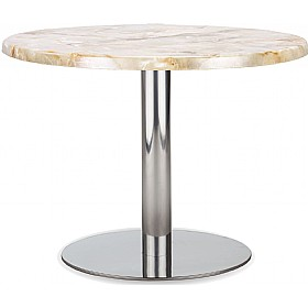 Lara Inox Low Topalit Table £179 - Bistro Furniture