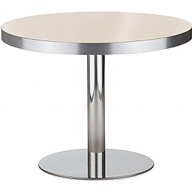 Lara Inox Low Aluminium Edged Melamine Table £195 - Bistro Furniture