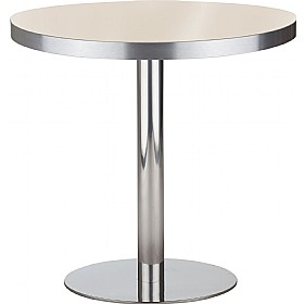Lara Inox Aluminium Edged Melamine Bistro Table £205 - Bistro Furniture