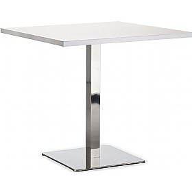 Lara Inox Square Melamine Bistro Table £218 - Bistro Furniture