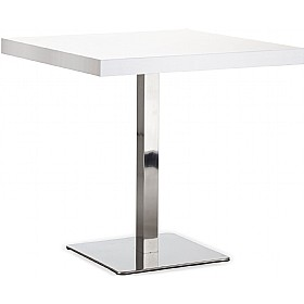 Lara Inox Square Heavy Duty Melamine Bistro Table £251 - Bistro Furniture