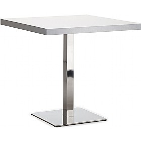 Lara Inox Square Aluminium Edged Melamine Bistro Table £230 - Bistro Furniture