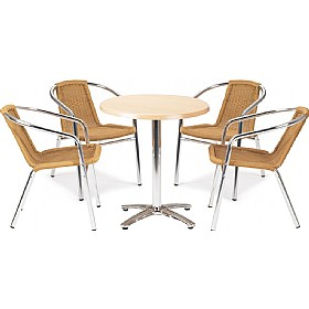Casa Round Table and 4 Chairs Bundle Deal £211 - Bistro Furniture