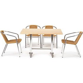 Casa Rectangular Table and 4 Chairs Bundle Deal £303 - Bistro Furniture