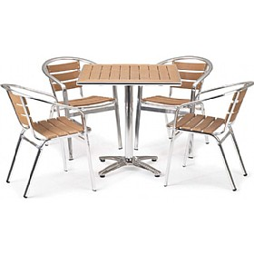 Siente Square Table Bistro Bundle Deal £222 - Bistro Furniture
