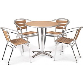 Siente Round Table Bistro Bundle Deal £228 - Bistro Furniture