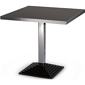 Squerto Square Aluminium Edged Melamine Bistro Table £223 - Bistro Furniture