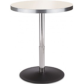 Up & Down Height Adjustable Aluminium Edged Melamine Bistro Table £149 - Bistro Furniture