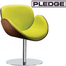 Pledge Spirit Tub Chair With Wooden Shell & Round Pedestal Base £685 - Reception Furniture