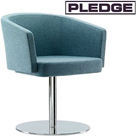 Pledge Zone Tub Chair With Round Pedestal Base £455 - Reception Furniture