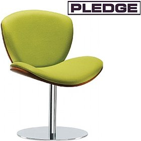 Pledge Spirit Lite Easy Chair With Wooden Shell & Round Pedestal Base £569 - Reception Furniture