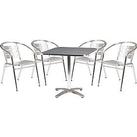 Rio Square Bistro Table & Chair Bundle Deal £183 - Bistro Furniture