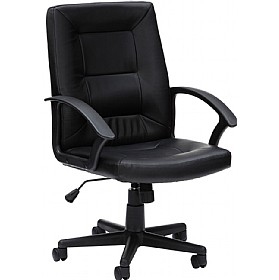 Source Leather Faced Manager Chairs £90 - Office Chairs