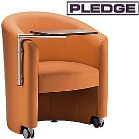 Pledge Inca Tub Chair With Swingaway Writing Tablet £628 - Reception Furniture