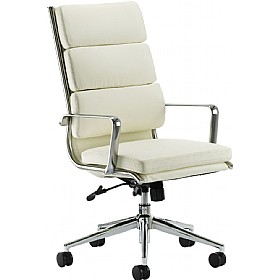 Sicily Enviro Leather Faced Managers Chair Ivory £245 - Office Chairs