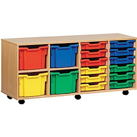 16 Tray Combi Mobile Storage £0 - Education Furniture
