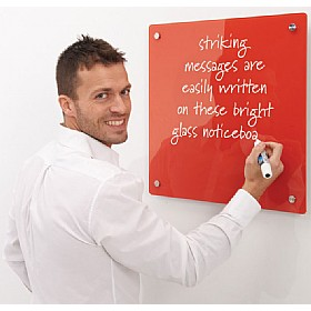 Write On® Coloured Magnetic Glass Drywipe Boards £50 - Display/Presentation