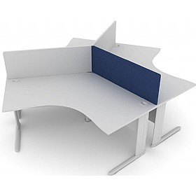 Elite Kassini Contract Rectangular 120 Degree Desk Screens £0 - Office Screens