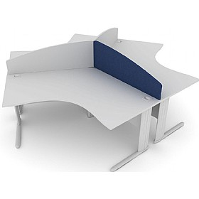 Elite Kassini Contract Curved 120 Degree Desk Screens £0 - Office Screens
