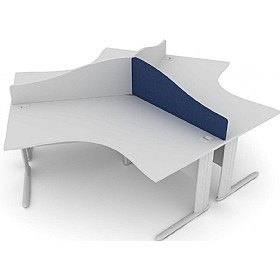 Elite Kassini Contract Wave 120 Degree Desk Screens £0 - Office Screens