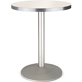 Florida Round Aluminium Edged Melamine Bistro Table - Round Base £164 - Bistro Furniture