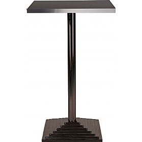 Florida High Square Aluminium Edged Melamine Bistro Table - Square Base £193 - Bistro Furniture