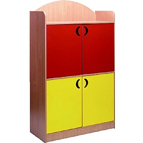 Stretton Designer Tall 4 Door Cupboard £420 - Education Furniture