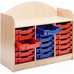 Stretton 18 Shallow Tray Designer Storage Unit £0 - Education Furniture