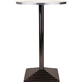 Florida High Round Aluminium Edged Melamine Bistro Table   Square Base £189    Bistro Furniture