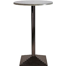 Florida High Round Topalit Bistro Table - Square Base £174 - Bistro Furniture
