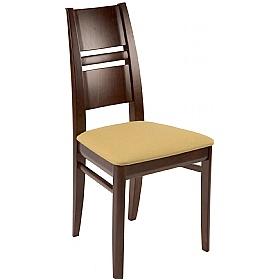 Paris Upholstered Wooden Dining Chair £185 - Bistro Furniture