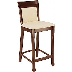 Lisbon High Upholstered Wooden Bistro Chair £222 - Bistro Furniture