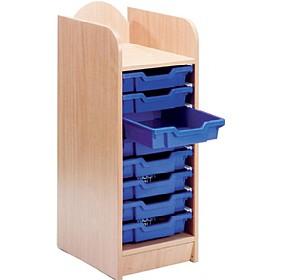 stretton 8 shallow tray storage unit shallow tray storage. Black Bedroom Furniture Sets. Home Design Ideas