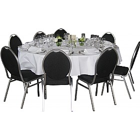 5ft Round Folding Table with 8x Duke Banquet Chairs £554 - Bistro Furniture
