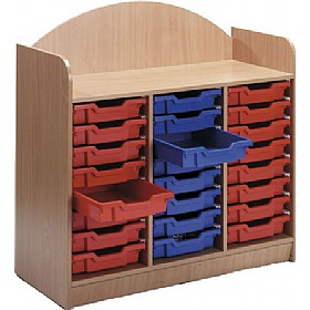 Stretton 24 Shallow Tray Storage Unit £0 - Education Furniture