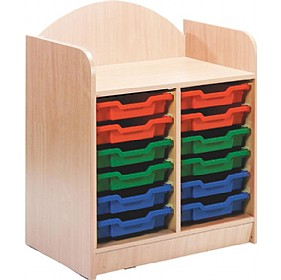 Stretton 12 Tray Double Bay Storage Unit £0 - Education Furniture