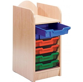 Stretton 6 Tray Single Bay Storage Unit £124 - Education Furniture