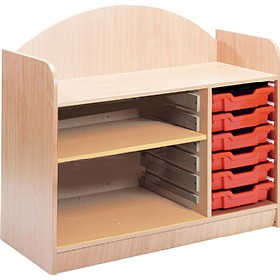 Stretton 6 Shallow Tray Storage Unit With Adjustable Shelf £0 - Education Furniture