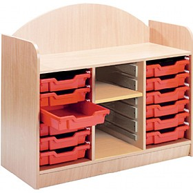 Stretton 12 Shallow Tray Storage Unit With Adjustable Shelf £247 - Education Furniture