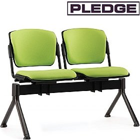 Pledge Mia Upholstered Beam Seating £370 - Office Chairs