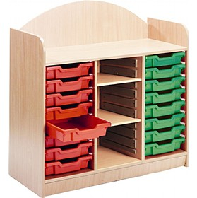 Stretton 16 Tray Storage Unit With Adjustable Shelves £0 - Education Furniture