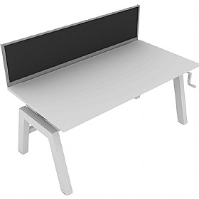 Elite Linnea Elevate Single Bench Fabric Screens £203 - Office Screens