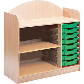 Stretton 8 Tray Storage Unit With Adjustable Shelf £0 - Education Furniture