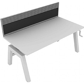 Elite Linnea Elevate Single Bench Fabric Screens With Management Rail £0 - Office Screens
