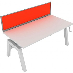 Elite Linnea Elevate Single Bench Acrylic Screens £0 - Office Screens