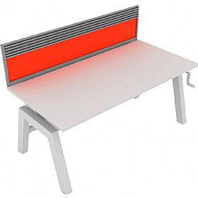 Elite Linnea Elevate Single Bench Acrylic Screens With Managenent Rail £263 - Office Screens