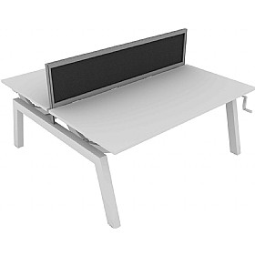 Elite Linnea Elevate Double Bench Fabric Screens £0 - Office Screens